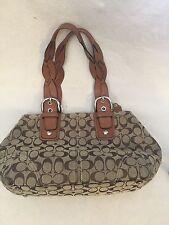 Coach 11863 Canvas & Leather Tote Shopper Bag