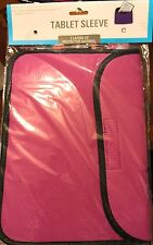 Pink 2 Layer Protector Soft Cover Tablet iPad Kindle Sleeve Case Protect NIB B38
