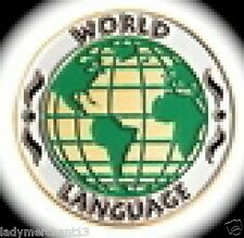 """WORLD LANGUAGE"" Enamel Lapel Pins, Wholesale Lot of 25, ALL NEW!"