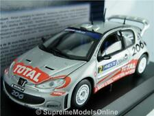 PEUGEOT 206 WRC 2002 RALLY MODEL CAR 1:43 SCALE 1586 SOLIDO GRONHOLM K8Q