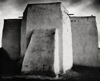 1931/63 ANSEL ADAMS St Francis Church RANCHOS DE TAOS New Mexico Photo Art 11X14