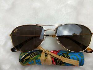 New MAUI JIM Sunglasses Baby Beach HS245-16 Gold HCL Bronze POLARIZED
