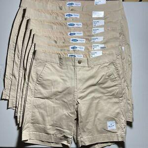 "Old Navy Women's Midrise Khaki Bermuda Everyday Shorts 9"" Choose Size 6-18 New"