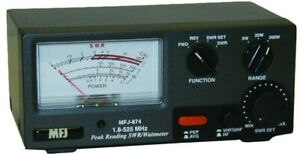 MFJ-874 - Grandmaster SWR/Wattmeter, 200 W, 1.8-525 MHz, Sweep Needle, SO-239