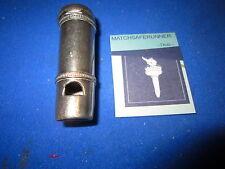 c. 1900 COMBINATION WORKING WHISTLE VESTA CASE MATCH SAFE HOLDER STRIKER