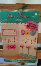 1950s SODA SHOP SCENE SETTERS Party Decoration Wall Adult Birthday Sock Hop NEW