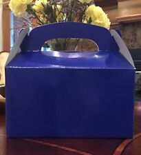 6 BLUE PARTY FAVOR TREAT BOXES BAG GREAT FOR BIRTHDAYS WEDDING  BABY SHOWER