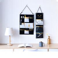 3/7 Pockets Cotton Linen Wall Door Storage Bag Hanging Bag Dormitor Sundries