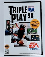 MLB Triple Play 96 - Authentic - Sega Genesis Video Game - Complete With Manual.