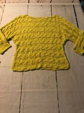 Moth Women's Sweater Anthropologie Bright Yellow Loose Knit Sweater Size Small
