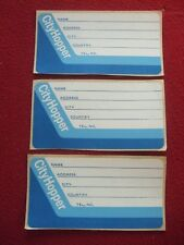 AIRLINE BAGGAGE STICKERS X 3 KLM CITY HOPPER 1980'S / 90'S VINTAGE