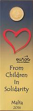 """10 x Coincard 2 euros Malte 2016 """"Love"""" comportant le poinçon Monnaie de Paris"""