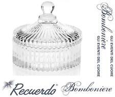 BOMBONIERA Made in Italy COPPA in FINE CRISTALLO PORTA DOLCI CIOCCOLATINI PR493