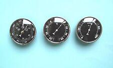 81 mm argent Cadre d'insertion Baromètre Thermomètre et Hygromètre Météo Set