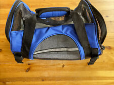 Paws & Pals Pet Carrier Soft Sided Small Cat Or Dog - No Shoulder Strap