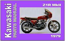 KAWASAKI Parts Manual KZ1000 Z1R MK-II 1979 to 1980 Replacement Spares Catalog