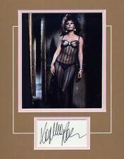 SOPHIA LOREN-EL CID-TWO WOMEN-THE VOYAGE-SIGNED CARD & PICTURE DISPLAY-AFTAL 070