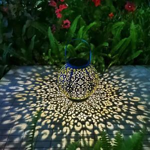 Solar Large Lantern Outdoor Hanging Lights Metal Decorative Garden Lights Waterp