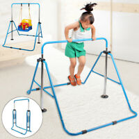 Gymnastic High bar Kids Training Equipment Metal Hardwood Uneven Beam Bar Home