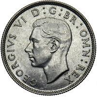 1944 FLORIN - GEORGE VI BRITISH SILVER COIN - SUPERB