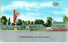 EL CAJON, California  CA   Roadside  THE WESTERNER MOTEL  c1950s  Postcard