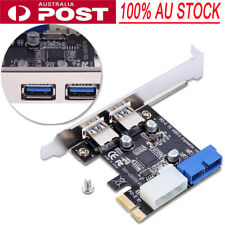 2 Ports USB 3.0 to PCI-E PCI Express Card Adapter VL805 Chip Expansion Extender