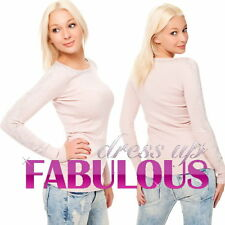 NEW WOMEN'S DIAMANTE JUMPERS Size 8 10 12 14 TOPS SWEATERS FASHION CLOTHING