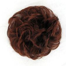 chouchou chignon cheveux châtain foncé cuivré intense ref: 17 en 322