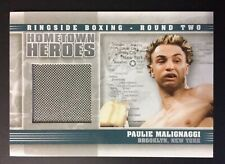 Paulie Malignaggi Fight Worn Material Swatch Boxing Card Ringside Round 2 Hh-15