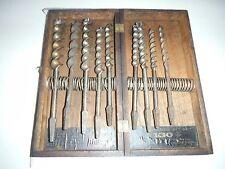 Vintage C.E.Jennings No.30 Auger Bit Set of 8 Pieces In Wooden Case