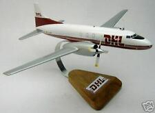 CV-580 DHL Convair 580 Airplane Desk Wood Model Small New
