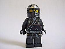 Lego COLE ZX Ninjago Black Ninja Minifigure  9444 9447 9449 9579 -NO ARMOR