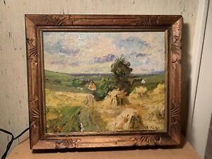 Vintage Unknown Artist Midwest Regionalism Art