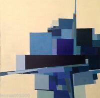 FOUGERAND.LAURENT ARTISTE PEINTRE FRANÇAIS _huile sur toile  _ 70 cm x 70 cm