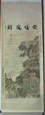 Grand KAKEMONO ancien CHINE JAPON ASIE PAGODE PAYSAGE EXTREME ORIENT 187 X 71 cm