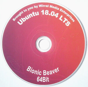 Ubuntu  Linux  18.04 Complete Operating System and Software on DVD +  CD Manual