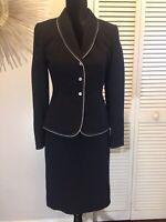 Tahari Black Skirt Suit