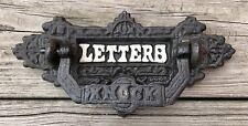 Cast Iron Front Door Vintage Letter Slot & Mail Door Knocker