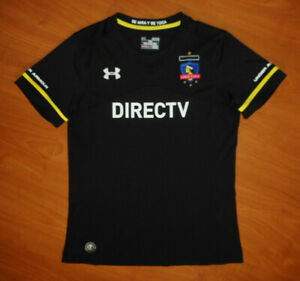 Under Armour Team Colo-Colo Women's Black Away Soccer Jersey Size M Medium