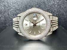 Rolex Datejust 41 Men's Iced Out 15 Carat Genuine Diamonds Bezel Jubilee  126300