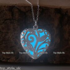 Blue Glow in the Dark Necklace Birthday Christmas Gift for her daughter Mum Wife