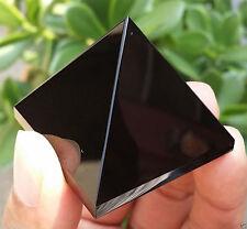 50-60g 1pcs NATURAL Obsidian quartz crystal Pyramid healing lisa-08