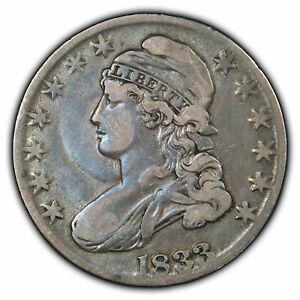 1833 50c Capped Bust Half Dollar - VF Coin - SKU-H1047