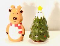 New Salt & Pepper Shaker Set Christmas Tree and Reindeer Set