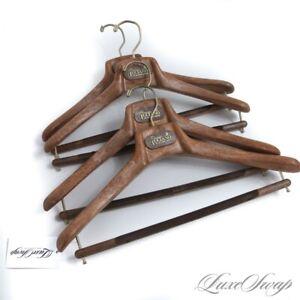 NWOT LOT X4 Orazio Luciano La Vera Sartoria Brown Composite Suit Hangers NR #6