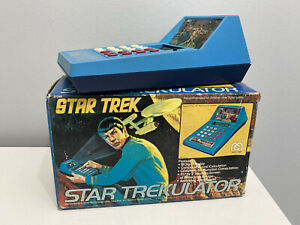 Rare Vintage Mego Star Trek - Star Trekulator Calculator with box
