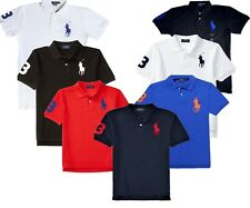 *NWT - POLO Ralph Lauren Men's Big Pony Custom Fit Polo Shirts : S,M,L,XL & 2XL