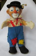Steiff Clownie Figur - Zirkus Clown mit Hut und Schild ca. 19 cm -Sehr schön!