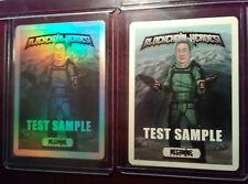 Only 12 -Set of Blockchain Heroes Test Sample Foil/White Base Cards Megamine