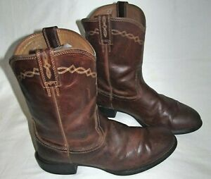 Ariat Heritage Distressed Leather Cowboy Roper Western Boots Mens Size 10.5 EE